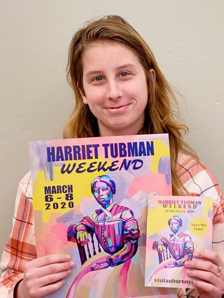 Haley Brewer designs Harriet Tubman poster and postcard